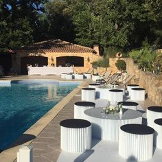 One day event, lounge décoration, in provence, black and white