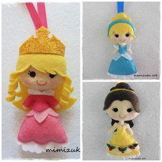Adonos de navidad de princesas inspirados en disney, Navidad, adornos navideños, arte mimizuku