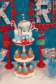 Thing 1 & Thing 2 Dr Seuss Themed Birthday Party {Planning, ideas, Decor} via Kara's Party Ideas KarasPartyIDeas.com