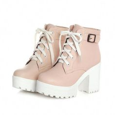 Buckle Square High Heels Lace Up Ankle Lady Fashion Boots Round Toe Platform Sho. - - Buckle Square High Heels Lace Up Ankle Lady Fashion Boots Round Toe Platform Short Plush Winter Women Shoes Size 3343 Pink Source by carozr High Heel Boots, High Heels, Boot Heels, Platform Ankle Boots, Women's Ankle Boots, High Platform Shoes, Block Heel Ankle Boots, Buckle Boots, Women's Shoes