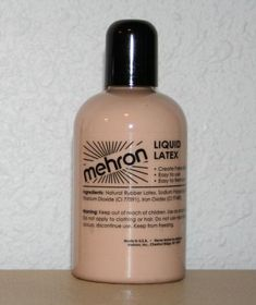 Soft Beige Latex Liquid is used by Special Effects Makeup Artist only limited by the imagination.