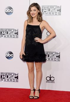 Lucy Hale attends the 2014 American Music Awards at Nokia Theatre L.A. Live on November 23, 2014 in Los Angeles, California. (Photo by Jason Merritt/Entertainment/Getty Images)