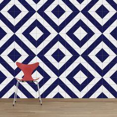 www.lurca.com.br/ // Lurca Azulejos - Coleção Modelo Raiz Azul Royal // Lurca Tiles - Collection Raiz Royal Blue Model #azulejos #azulejosdecorados #revestimentos #arquitetura #interiores #decor #design #sala #reforma #decoracao #geometria #casa #ceramica #architecture #decoration #decorate #style #home #homedecor #tiles #ceramictiles #homemade