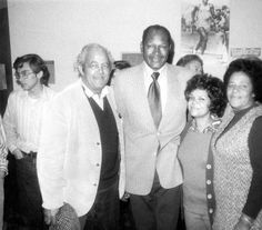 Mayor Tom Bradley's campaign opens in Pacoima, circa 1972. Left to right: Edward Kussman, Tom Bradley, Ruby Madison, Nancy Avery. African American Historical Society and Cultural Center of the San Fernando Valley. San Fernando Valley History Digital Library.