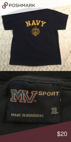 e5ca7ddc43a Vintage NAVY T-shirt Good Used Condition Vintage T-shirt U.S. NAVY Size XL