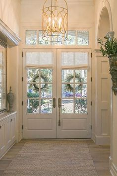 For the Love of a House - Katy Lifestyles & Homes magazine : Katy Lifestyles. For the Love of a House – Katy Lifestyles & Homes magazine : Katy Lifestyles & Homes magazine Country Front Door, Front Door Entrance, Front Door Decor, Door Entryway, Front Door Curtains, Double Doors Entryway, House Entrance, Entry Foyer, Home Renovation