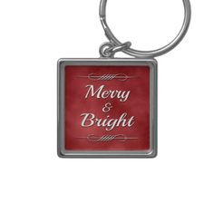 Merry and Bright Keychain - christmas keychains family merry xmas personalize gift idea