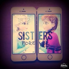 Sisters forever ❤️ iPhone background :) besties <3 frozen!