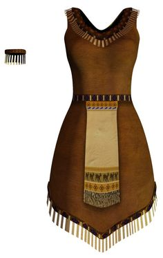 Native American Fashion | Native American Dress by ~HarleyBliss on deviantART Más
