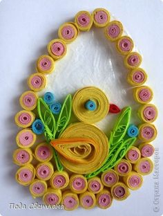 Quilled egg with chick