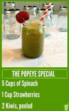 The Popeye Special Healthy Juice Recipe #Chrisfreytag #juicing #healthy