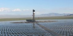 The Ivanpah Solar Thermal Power Tower in the Mojave Desert