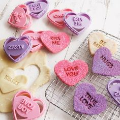 conversation heart cookie cutters :: love!