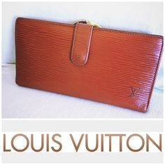 Louis Vuitton Epi leather kisslock long wallet Authentic Louis Vuitton Epi Leather Kisslock Long Wallet in Cognac color. This is used and has some signs of wear. Please check all the photos as I have posted true condition of this wallet. The color is beautiful and epi leather by LV is so~~durable and smooth! I used this wallet everyday until I bought my new chanel wallet! I love this wallet and you will too if you held in your hand Bundle deal not included and trade value higher. Bags…