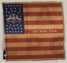 53rd Pennsylvania Infantry, National Colors, 1865.  Total Killed and Died of Wounds: 200.