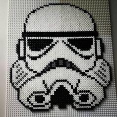 Stormtrooper Star Wars hama beads by hamatiija