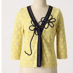 Anthropologie sweater/jacket Field Flower midnight daisy cardigan. Excellent condition. Anthropologie Jackets & Coats