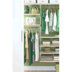 The Container Store > Birch & White elfa décor Small Reach-In Closet