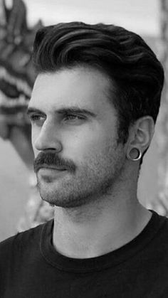 Mens Hairstyles With Beard, Hair And Beard Styles, Haircuts For Men, Mustache Styles, Beard No Mustache, Moustaches, Sexy Bart, Beard Boy, Hair Icon