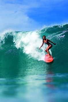 Going left is awesome! Surfergirl #Surfing #Surfchick #SurfResort