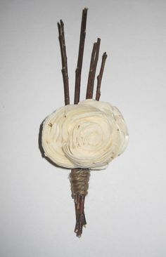 Cool boutonieres...maybe another flower?