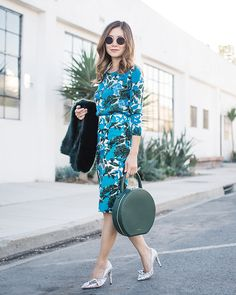 Get this look: http://lb.nu/look/8849229  More looks by Elizabeth Lee (Stylewich): http://lb.nu/stylewichliz  Items in this look:  J. Crew Sequin Vibrant Floral Sweater And Skirt, Mansur Gavriel Circle Bag, Isabel Marant Poetty Glitter Pumps   #chic #classic #retro