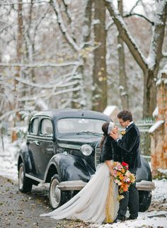 Vintage Winter Castle Elopement - Inspired By This