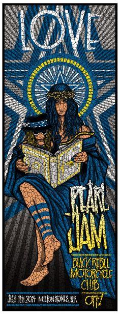 Pearl Jam Poster - 11/07/2014 - Milton Keynes - UK - PJEuropeTour