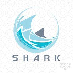 shark's fin logo shark logo