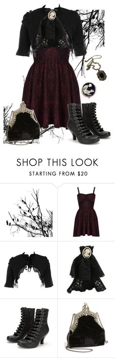 """Untitled #336"" by hades-persephone ❤ liked on Polyvore featuring Topshop, Jeffrey Campbell and House of Harlow 1960"