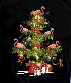 Beach Christmas, Coastal Christmas, Pink Christmas, Christmas Humor, Vintage Christmas, Xmas, Flamingo Craft, Flamingo Decor, Pink Flamingos