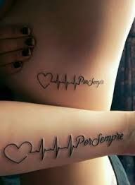 Tattoo Ideas You Can Do With Your Love - Latest Hottest Tattoo Designs. tribal, temporary tattoos, t Hot Tattoos, Mini Tattoos, Couple Tattoos, Trendy Tattoos, Body Art Tattoos, Tattoos For Guys, Tatoos, Tattoos Of Names, Family Tattoos
