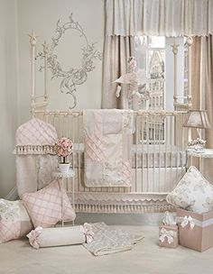 #shopping The perfect nursery for your #little princess. #Florence adds a romantic touch of elegance to your baby girl's nursery in shades of smoke, cream, taupe ...