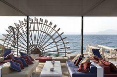 katavothres Rest Area, Area Restaurants, Big Island, Greece, Around The Worlds, Architecture, Building, Beach, Reception