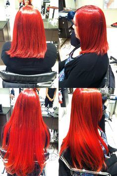 Taryn at Mario Tricoci Libertyville! Bright Red Hair, Fasion, Hair And Nails, Extensions, Fashion Beauty, Beauty Hacks, Hair Care, Tulle, Hair Color