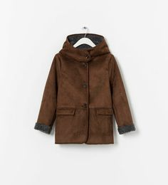 LINED COAT WITH HOOD from Zara kids