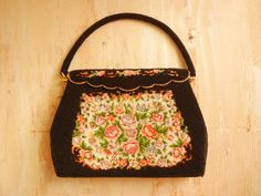 Vintage  1950's Beaded and Needle Point Pocketbook Clutch by GracedVestige on Etsy