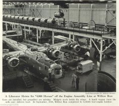Engine Assembly Line at the Willow Run Liberator Bomber Plant in Ypsilanti, Michigan, 1944
