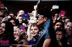 Lady Gaga has been greeted by fans as she arrived in Australia.
