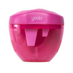 On The Double. Our three hole pencil sharpener in pink will get your pencils of all sizes sharp and ready to go, with a two small holes for standard-medium sized and a big one for jumbo sizes. A sturd