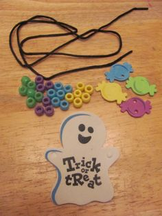 Trick or Treat Sweet Treat Ghost Necklace by MoonliteReflections, $2.00