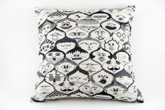 Faces Pillow by Jain&Kriz. A striking and playful accent for the bedroom, kids' or living room. Cool Coasters, Colorful Pillows, Bedroom Kids, Signature Style, Valentine Gifts, Home Accessories, Decorative Pillows, Faces, Throw Pillows