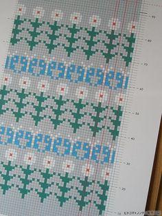 Цветочные орнаменты Fair Isle Knitting Patterns, Knitting Charts, Weaving Patterns, Inkle Loom, Loom Weaving, Cross Stitch Embroidery, Cross Stitch Patterns, Motif Fair Isle, Swedish Weaving
