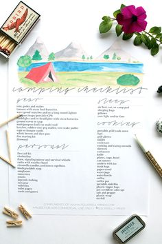 Printable Camping Checklist | Squirrelly Minds