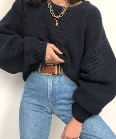 Minimalist Outfit Ideas For Fall 2019 Tomboy Outfits, Casual Fall Outfits, Simple Outfits, Mode Outfits, Winter Outfits, Autumn Jeans Outfits, Outfits With Jeans, Autumn Casual, Autumn Style