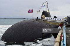 TERRITORY, RUSSIA. MARCH 19, 2016. The K-419 Kuzbass, a Project 971 Akula-class nuclear-powered attack submarine, joins the Russian Pacific Fleet after undergoing repairs at the Zvezda shipyard. The submarine's life-support systems and radio and hydroacoustic equipment have been upgraded. Yuri Smityuk/TASS