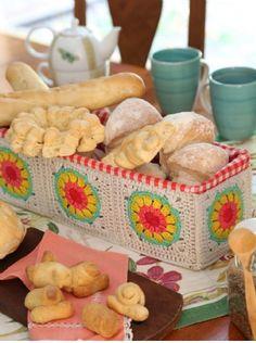 Panera - Crochet Busca el patron con las instrucciones en www.eviadigital.com y a tejer!!