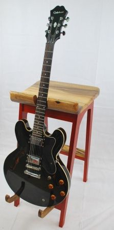 The stool frame is Padauk and the seat guitar supports and foot rest are all carved from a solid piece of Oregon Myrtle wood. : wooden guitar stool - islam-shia.org
