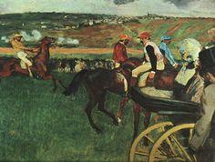 Edgar Degas - At the Races - Edgar Degas - Wikipedia, la enciclopedia libre