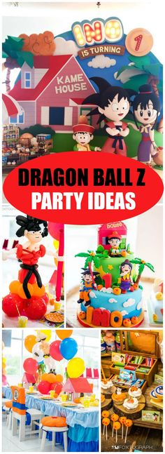 What an awesome Dragon Ball Z birthday party! See more party ideas at CatchMyParty.com!